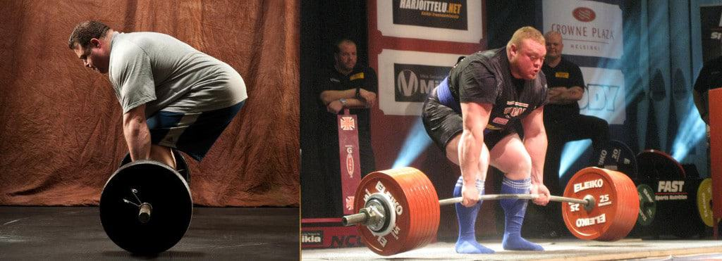 Andy Bolton and Benedikt Magnusson Deadlifting