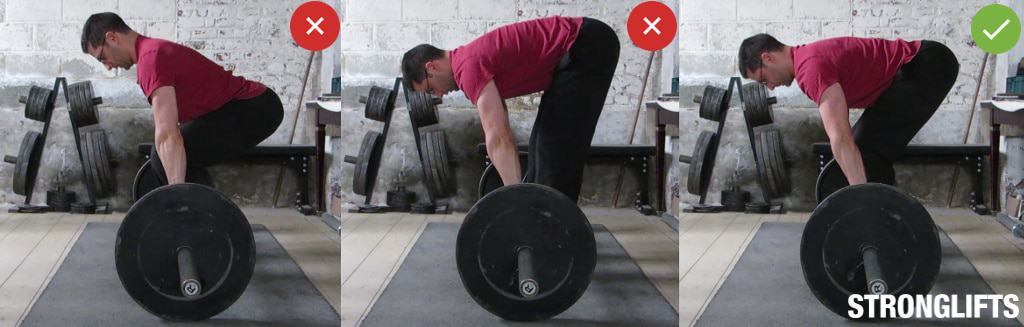 Barbell Row Hips