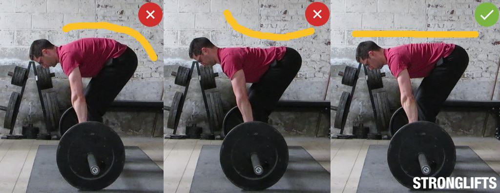 T bar row vs barbell row