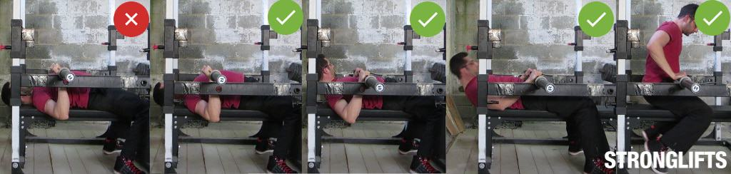 using squat rack for bench press 2