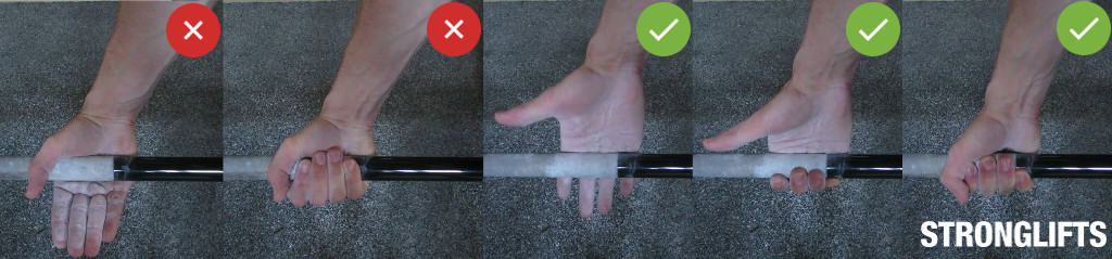 Deadlift Good vs. Bad Grip