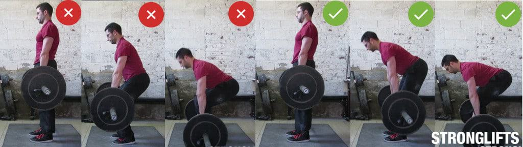 Deadlift lowering the bar