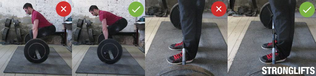 How to stop scraping shins on Deadlifts