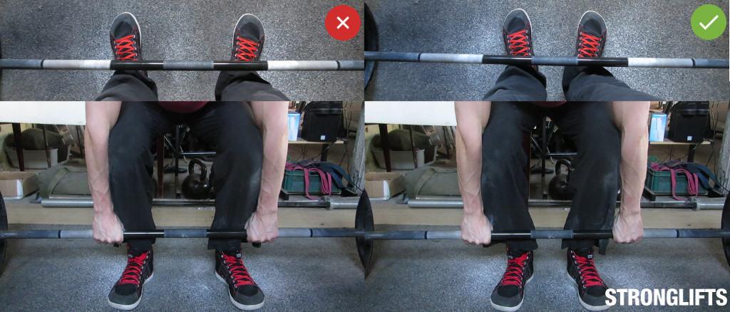 Deadlift stance