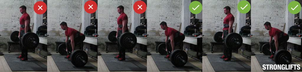Deadlifting top down vs. from the floor