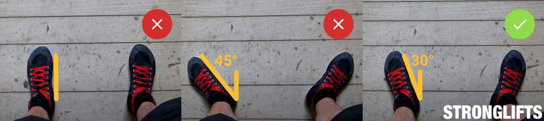 Squat Toe Angle